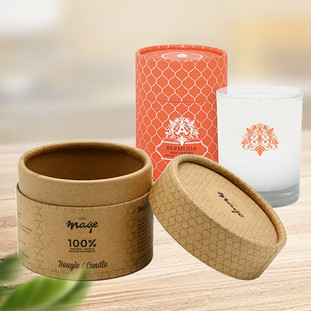 Custom cardboard candle tube packaging boxes
