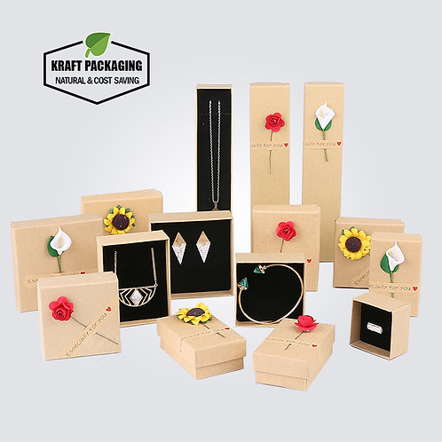 Artificial Flower and Kraft Paper Sticker for Gift Boxes Decoration