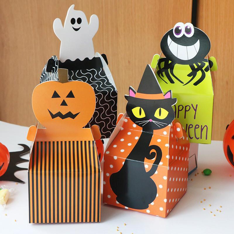 Cartoon Design Halloween treat boxes