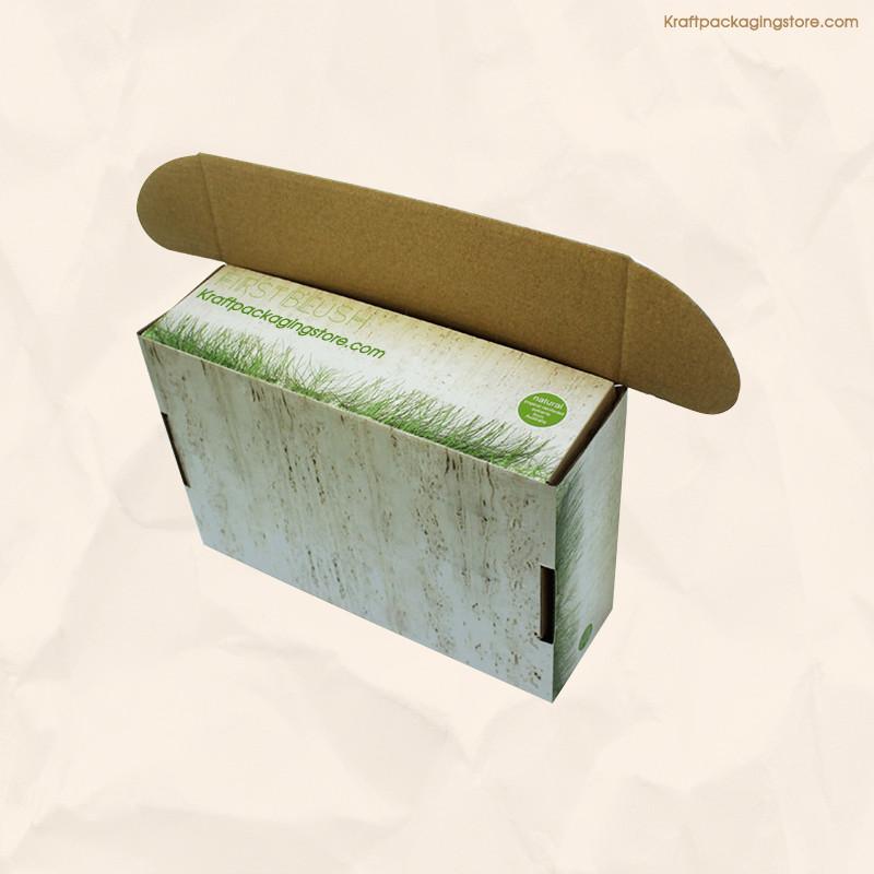 Full color printed kraft mailing box