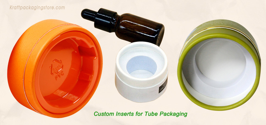 Custom cylinder tube packaging with inserts