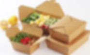 Kraft paper salad take out containers packaging