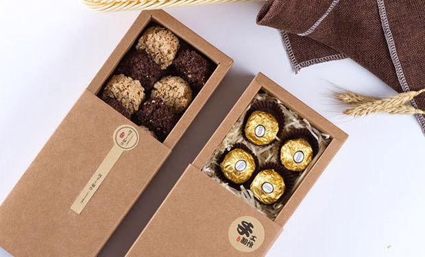 kraft drawer box for chocolate packing