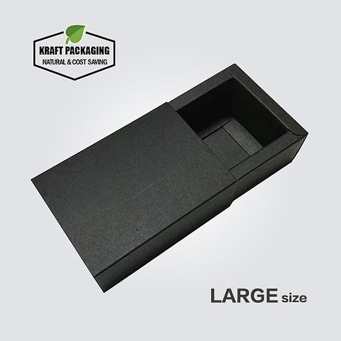 Large Black Kraft Paper Slide Drawer Box Packaging