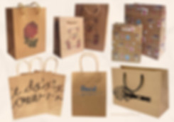 Custom printed Kraft paper gift bags with handles