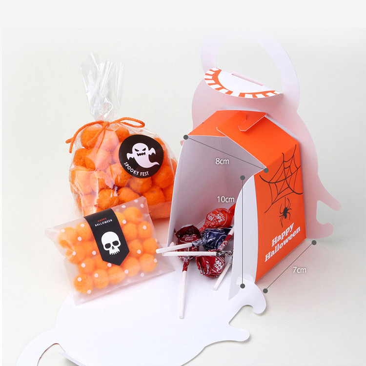 Pumpkin shape Halloween treat boxes