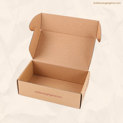 Custom flexo printed brown mailer box