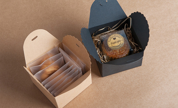 Kraft paper cookie cake box packaging