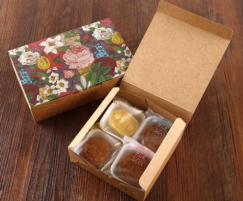 Cookies cake packaging Kraft printed gift boxes wholesale