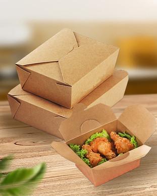 Greaseproof Kraft Paper take away food boxes