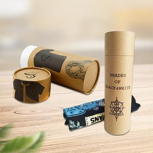 Custom t-shirt packaging tube boxes