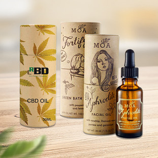Custom essential oil bottle packaging tube boxes