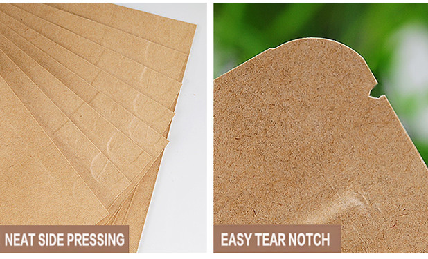 Perfect detail designed kraft paper pouch