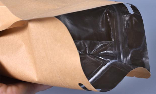 Aluminum foil inside side stand up zipper pouch