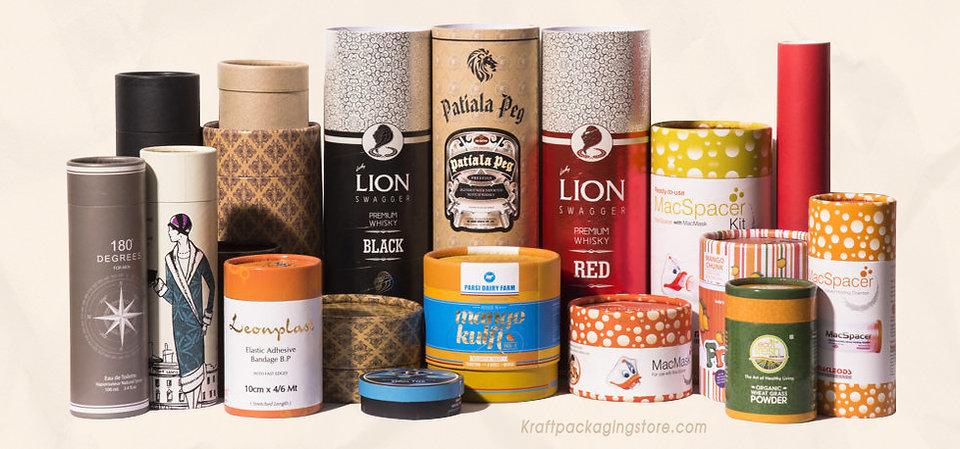 custom paperboard cosmetic tubes packaging