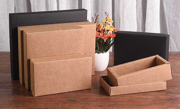 Kraft pape boxes with lid supplier