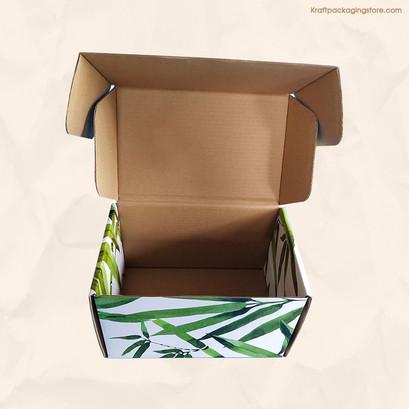 Inside brown Kraft custom mailer boxes