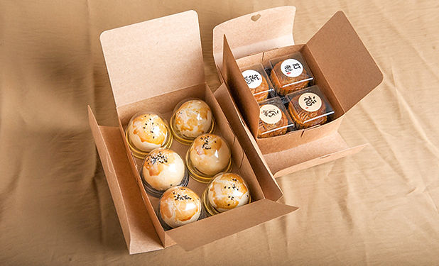 Kraft cheap flat pack gift boxes for cake packaing
