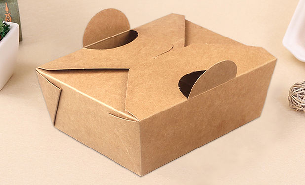 Kraft paper fried chicken take out boxes packaging