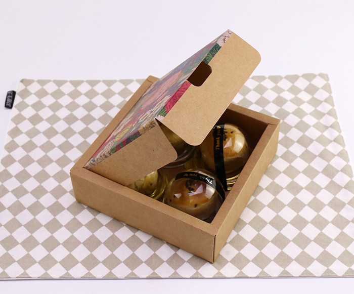 Wholesale two piece flip top printed Kraft paper gift boxes