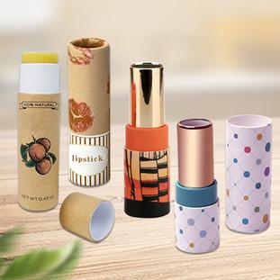 Custom lip balm lipstick tube packaging