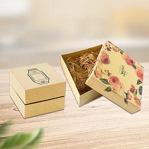 Custom kraft rigid cardboard telescoping gift boxes