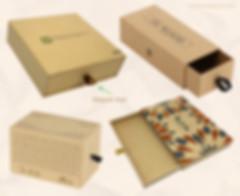Custom Kraft rigid slide out drawer boxes
