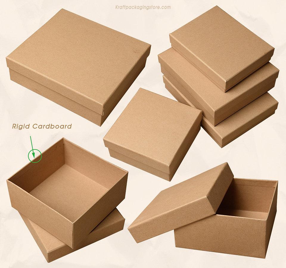 Kraft Rigid cardboard telescoping gift boxes wholesale