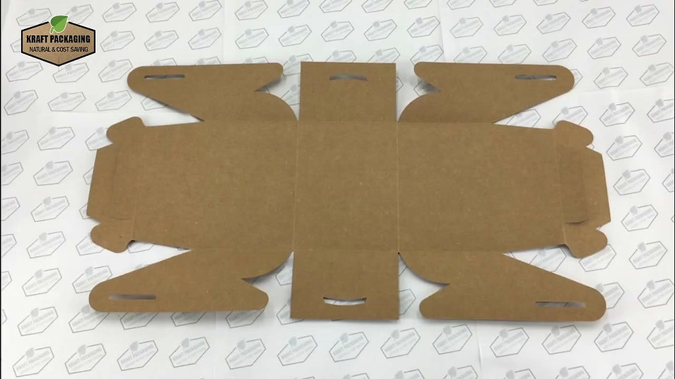 Learn how to fold Kraft gable boxes in an easy way