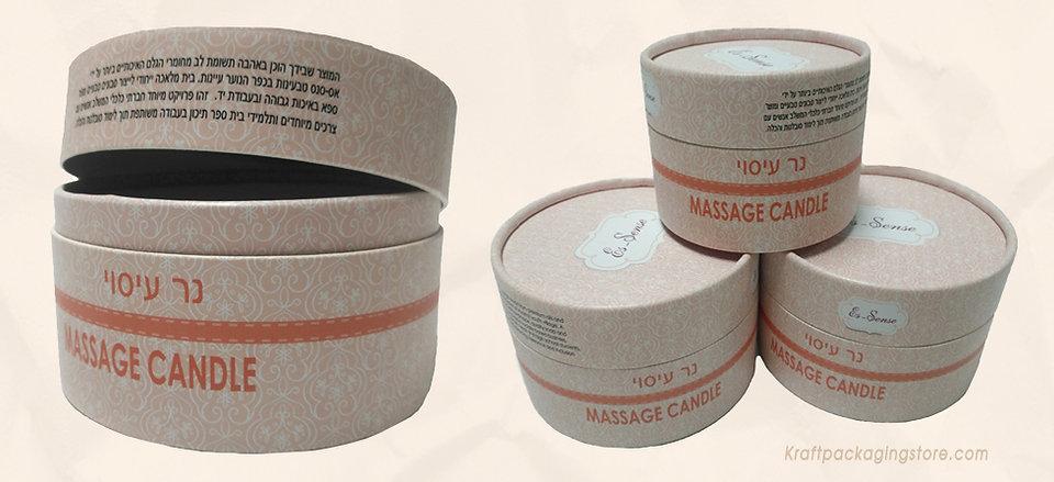 Custom cardboard tubes for candles