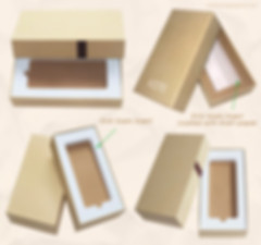 Rigid chipboard kraft telescope gift box with EVA foam insert