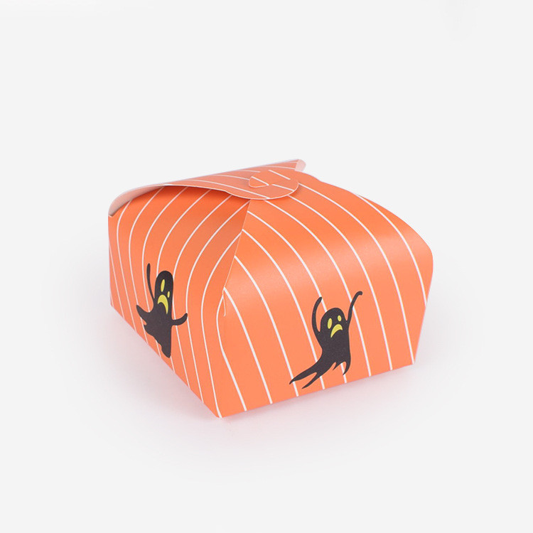 Small Printed Halloween favor gift boxes