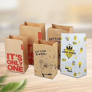 Custom print Kraft grocery bags sos sacks