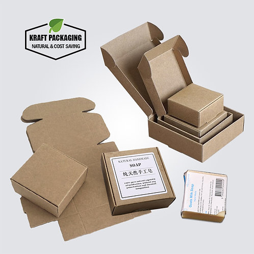 Kraft Paper Soap Boxes Small Gift Boxes without Window