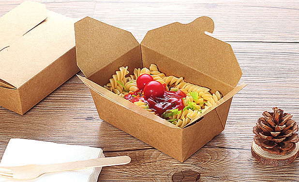 Durable Kraft paper food take out boxes packaging