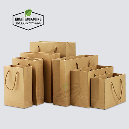 Brown Kraft paper gift bags with nylon rope handles
