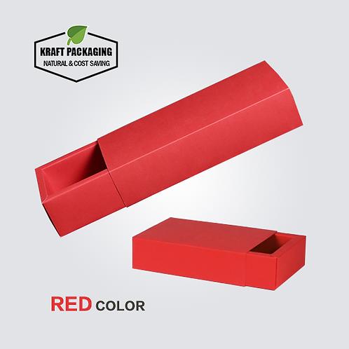 RED Color Kraft Paper Slide Drawer Box