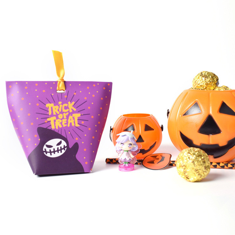 Ribbon Bag style Halloween favor treat boxes