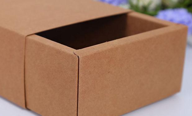 Thick kraft paperboard slide drawer box
