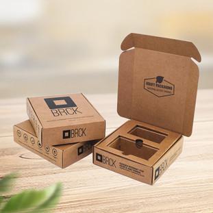 Custom printed Kraft corrugated mailer boxes