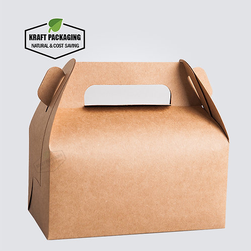 BROWN Kraft Gable Boxes for Baking Food Gift Packaging Wholesale