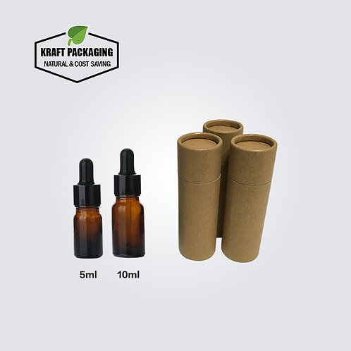 Brown Kraft Paper Cardboard Tube Packaging Suit for 5ml 10ml Dropper Bottles