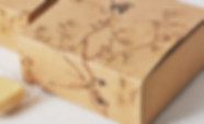 Beautiful artwork kraft paper Printed gift boxes