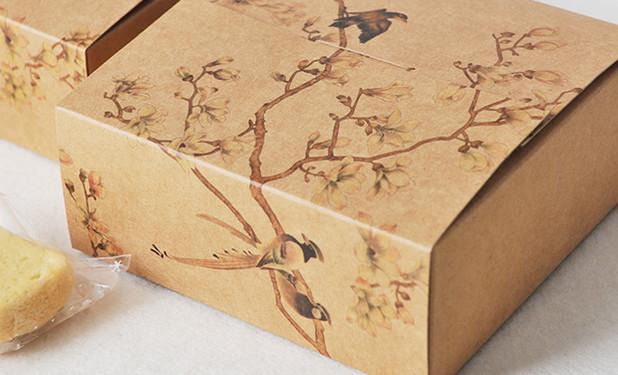 Beautiful artwork kraft paper Printed gift boxes