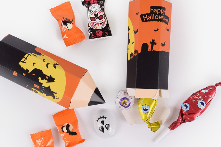 Pencil Shape Halloween favor gift boxes