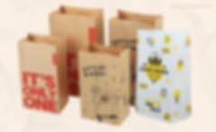 Custom SOS style kraft paper bakery bags groceries bag
