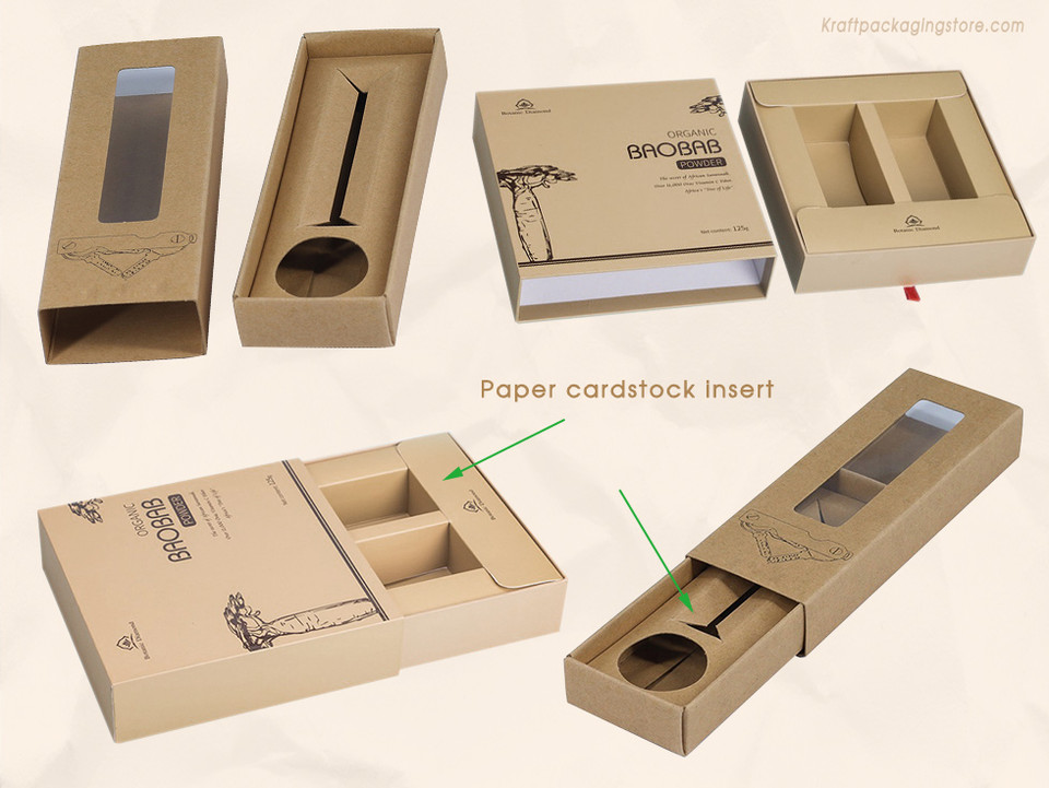 Custom Rigid sleeve sliding boxes with paper card insert