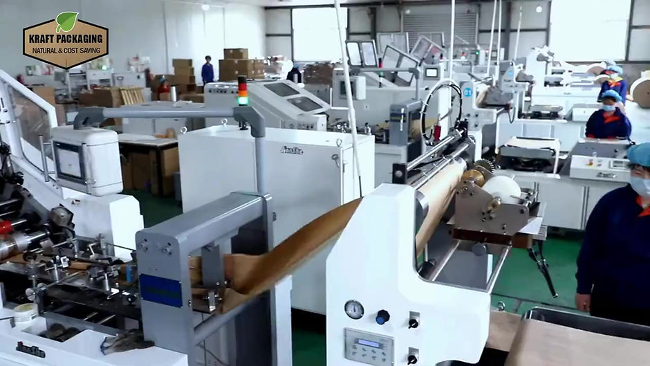 Production of custom printed kraft sacks grocery bags