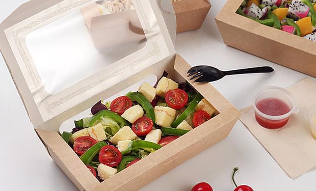 Big volume Kraft salad storage containers