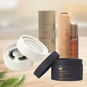 Cusotm cosmetic cardboard tube packaging boxes
